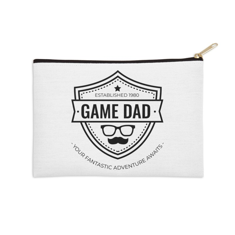 Game Dad - Black Accessories Zip Pouch by fantasticworldspod's Artist Shop
