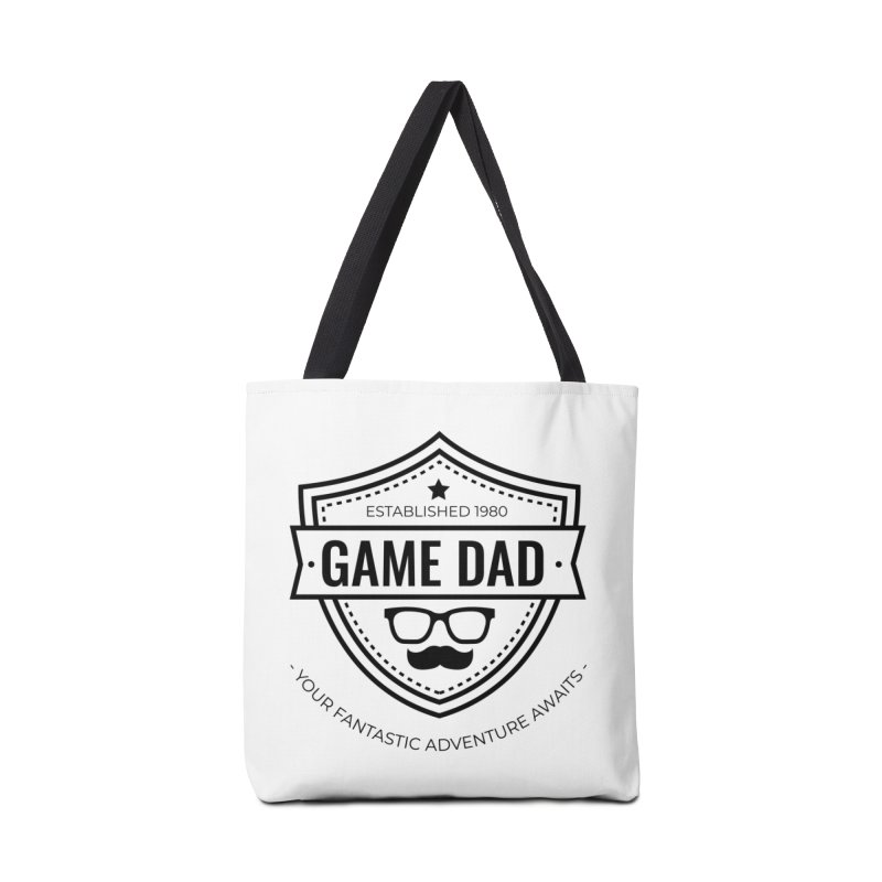 Game Dad - Black Accessories Tote Bag Bag by fantastic worlds pod's Artist Shop
