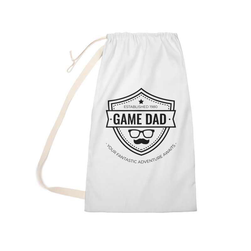 Game Dad - Black Accessories Laundry Bag Bag by fantastic worlds pod's Artist Shop