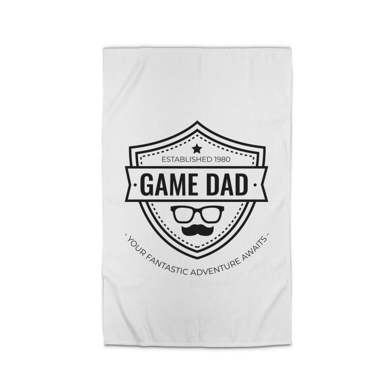 Game Dad - Black Home Rug by fantastic worlds pod's Artist Shop