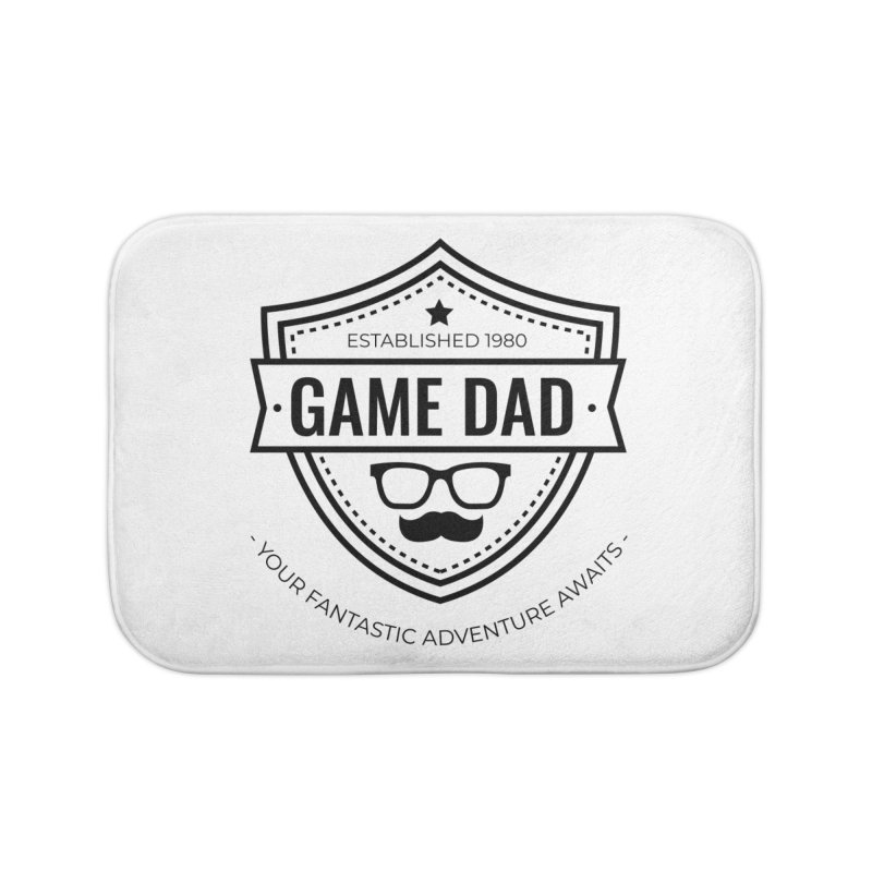 Game Dad - Black Home Bath Mat by Fantastic Worlds Podcast  Shop