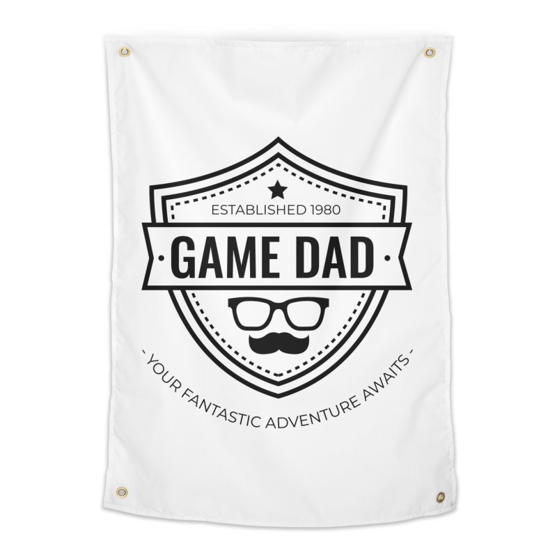 Game Dad - Black Home Tapestry by fantastic worlds pod's Artist Shop