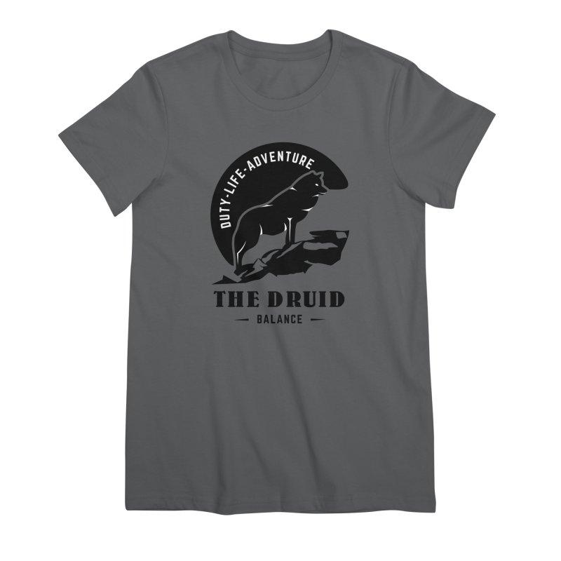 The Druid - Black Women's T-Shirt by fantastic worlds pod's Artist Shop