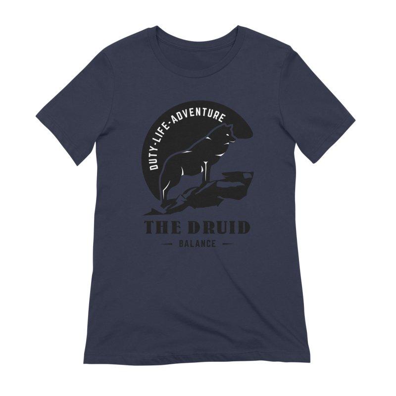 The Druid - Black Women's Extra Soft T-Shirt by fantasticworldspod's Artist Shop