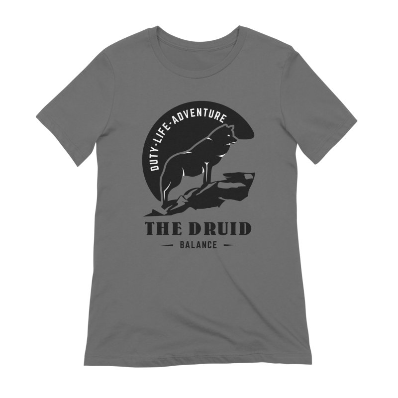 The Druid - Black Women's Extra Soft T-Shirt by fantastic worlds pod's Artist Shop