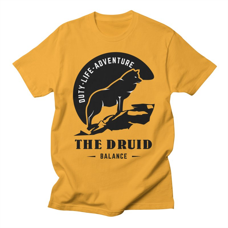 The Druid - Black Men's T-Shirt by Fantastic Worlds Podcast  Shop