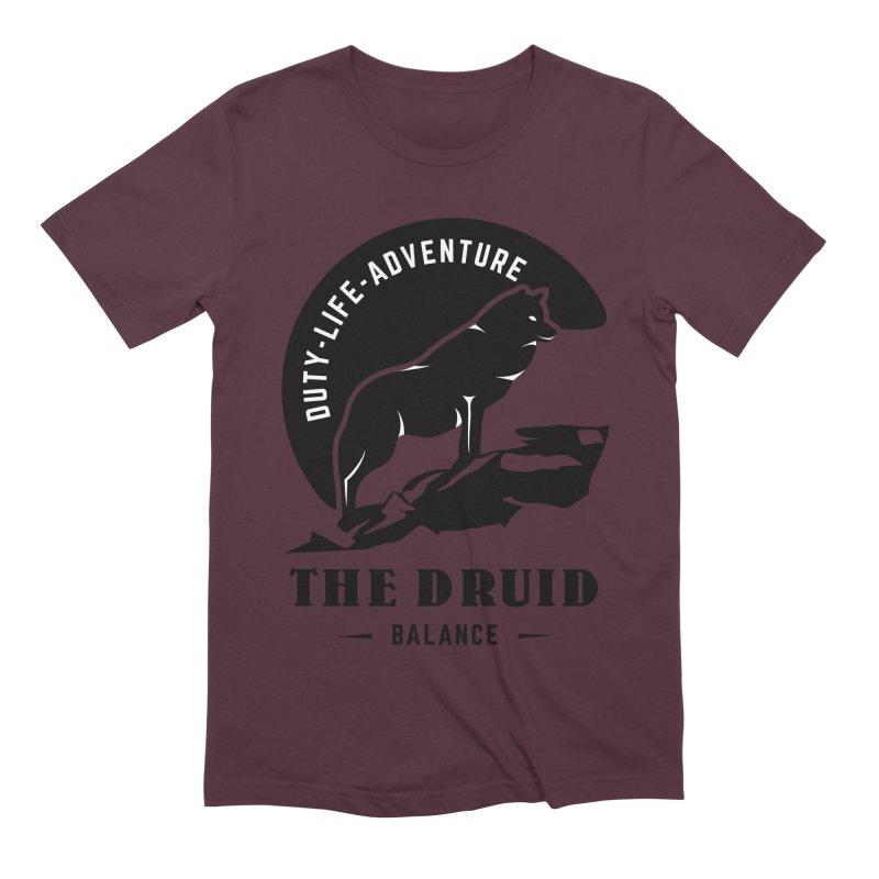 The Druid - Black Men's Extra Soft T-Shirt by fantasticworldspod's Artist Shop