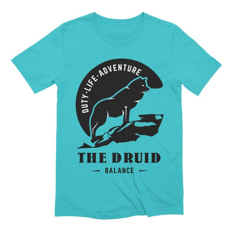 The Druid - Black Men's Extra Soft T-Shirt by fantastic worlds pod's Artist Shop