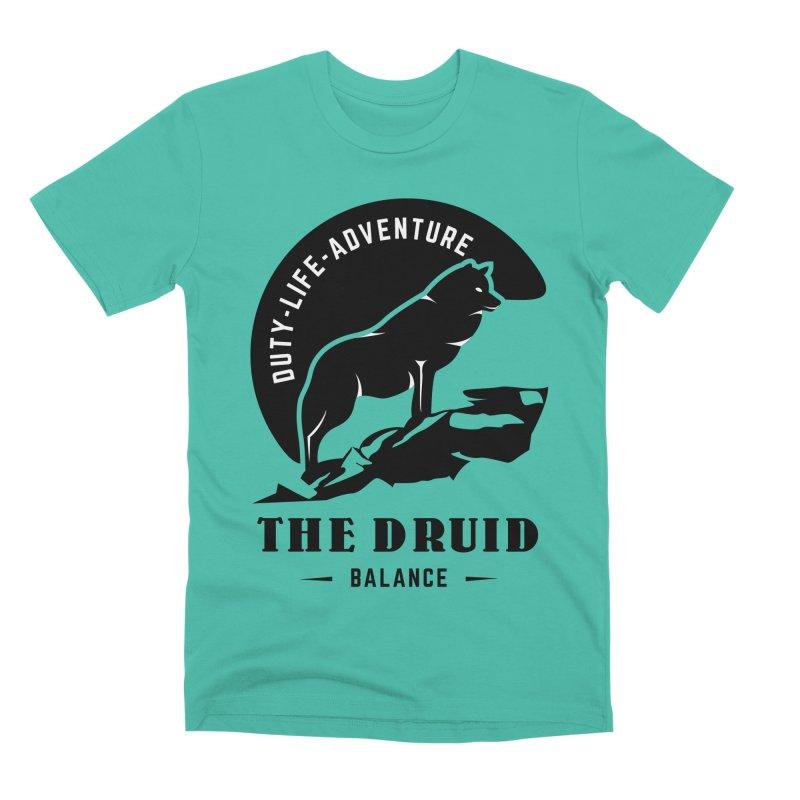 The Druid - Black Men's Premium T-Shirt by fantasticworldspod's Artist Shop