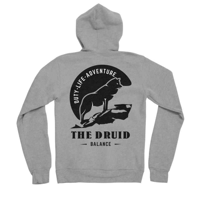 The Druid - Black Men's Sponge Fleece Zip-Up Hoody by fantastic worlds pod's Artist Shop