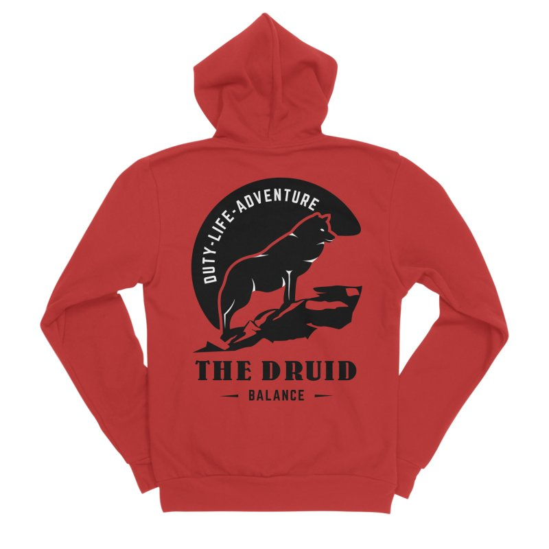 The Druid - Black Women's Sponge Fleece Zip-Up Hoody by fantastic worlds pod's Artist Shop