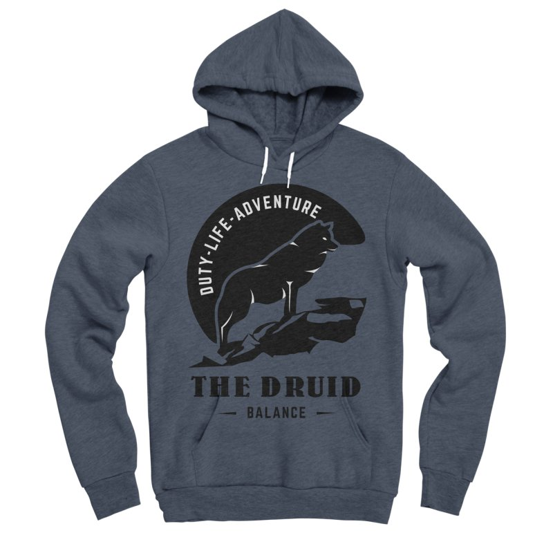 The Druid - Black Men's Sponge Fleece Pullover Hoody by fantasticworldspod's Artist Shop