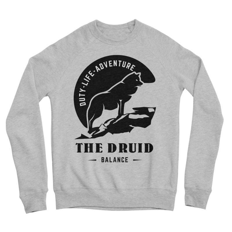 The Druid - Black Men's Sponge Fleece Sweatshirt by fantastic worlds pod's Artist Shop