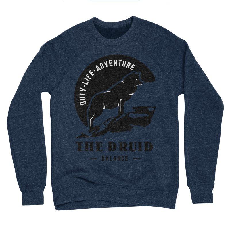 The Druid - Black Men's Sponge Fleece Sweatshirt by fantasticworldspod's Artist Shop