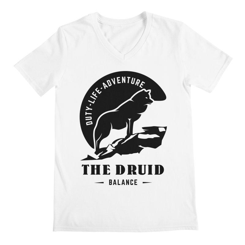 The Druid - Black Men's V-Neck by fantastic worlds pod's Artist Shop