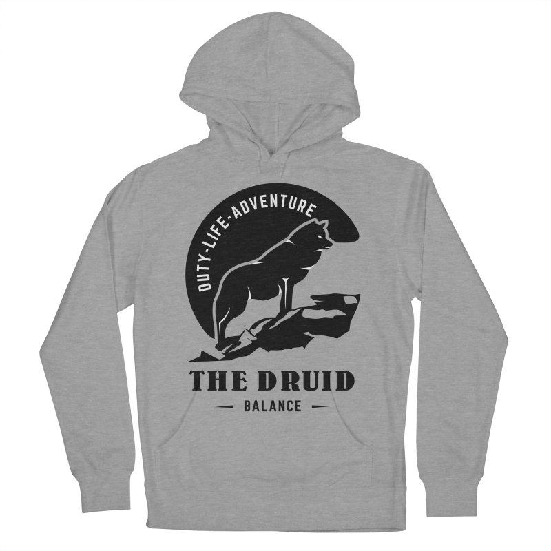 The Druid - Black Men's French Terry Pullover Hoody by fantasticworldspod's Artist Shop