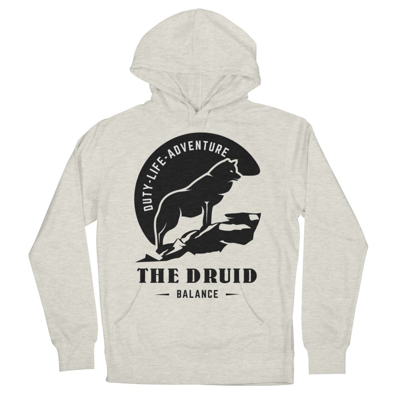 The Druid - Black Men's French Terry Pullover Hoody by fantastic worlds pod's Artist Shop