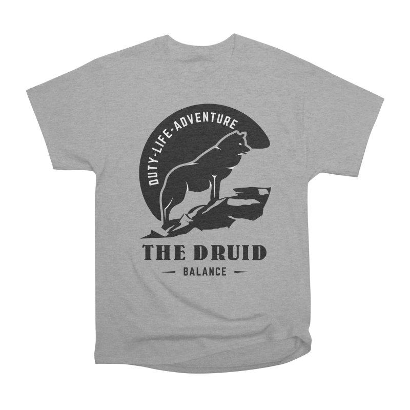 The Druid - Black Women's Heavyweight Unisex T-Shirt by fantastic worlds pod's Artist Shop