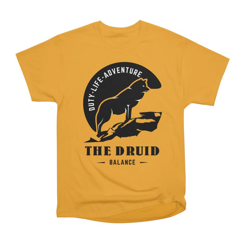 The Druid - Black Women's Heavyweight Unisex T-Shirt by fantasticworldspod's Artist Shop