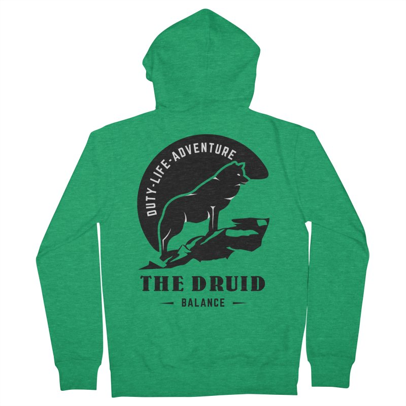 The Druid - Black Women's Zip-Up Hoody by Fantastic Worlds Podcast  Shop