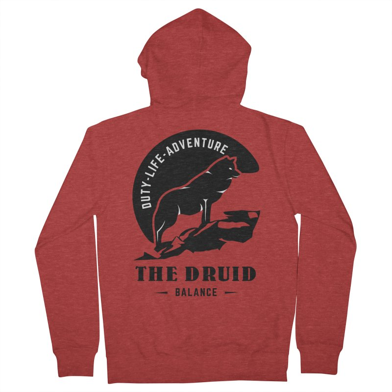 The Druid - Black Women's French Terry Zip-Up Hoody by fantastic worlds pod's Artist Shop