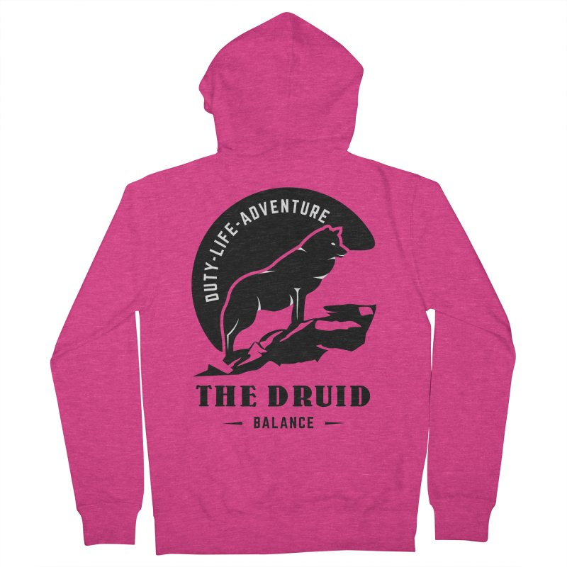 The Druid - Black Women's French Terry Zip-Up Hoody by Fantastic Worlds Podcast  Shop