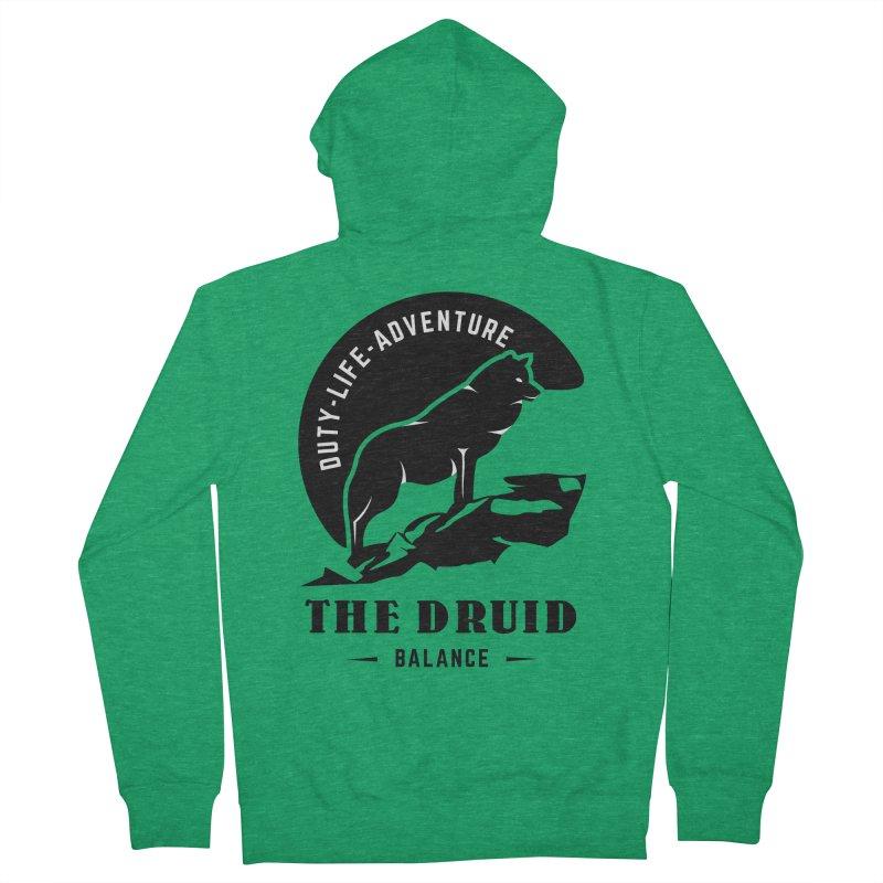 The Druid - Black Men's French Terry Zip-Up Hoody by fantasticworldspod's Artist Shop