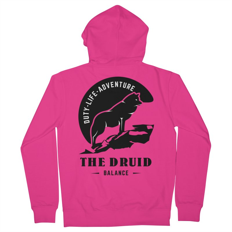The Druid - Black Men's French Terry Zip-Up Hoody by fantastic worlds pod's Artist Shop