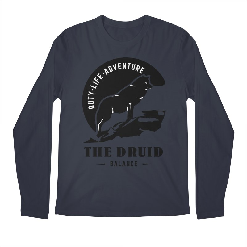 The Druid - Black Men's Regular Longsleeve T-Shirt by fantastic worlds pod's Artist Shop