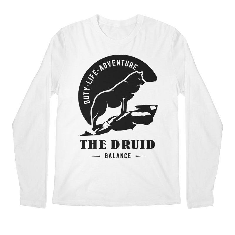 The Druid - Black Men's Regular Longsleeve T-Shirt by fantastic worlds pod's Artist Shop