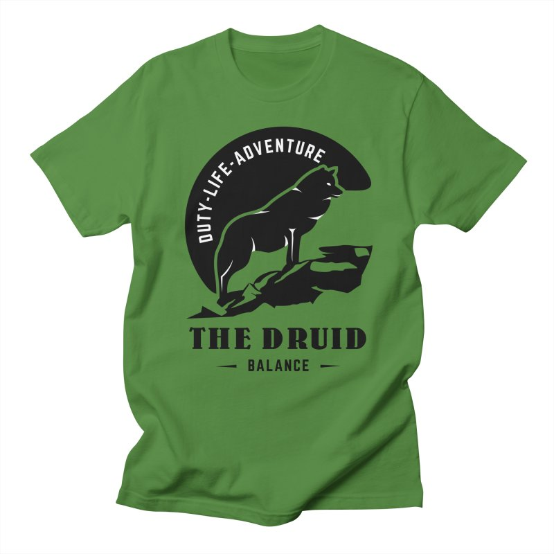 The Druid - Black Women's Regular Unisex T-Shirt by fantastic worlds pod's Artist Shop