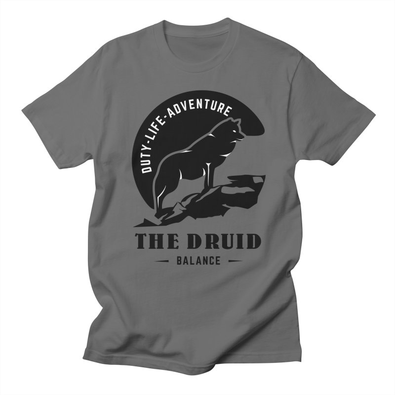 The Druid - Black Men's T-Shirt by Fantastic Worlds Podcast  Shop