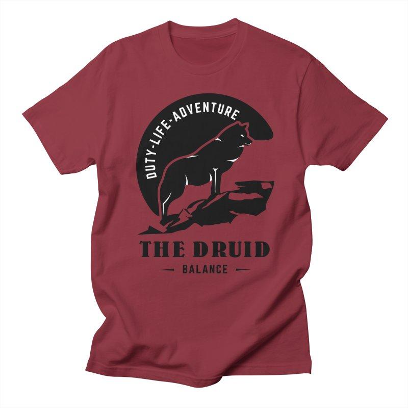 The Druid - Black Men's Regular T-Shirt by fantastic worlds pod's Artist Shop
