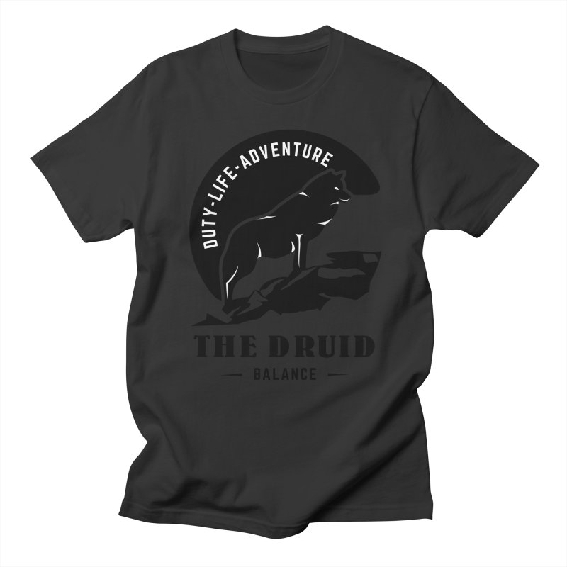 The Druid - Black Men's Regular T-Shirt by fantastic worlds pod's Artist Shop