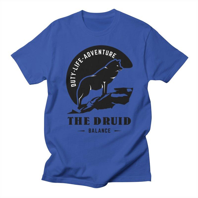 The Druid - Black Women's Regular Unisex T-Shirt by fantasticworldspod's Artist Shop