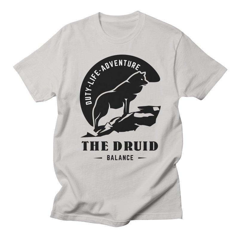 The Druid - Black Men's Regular T-Shirt by fantasticworldspod's Artist Shop