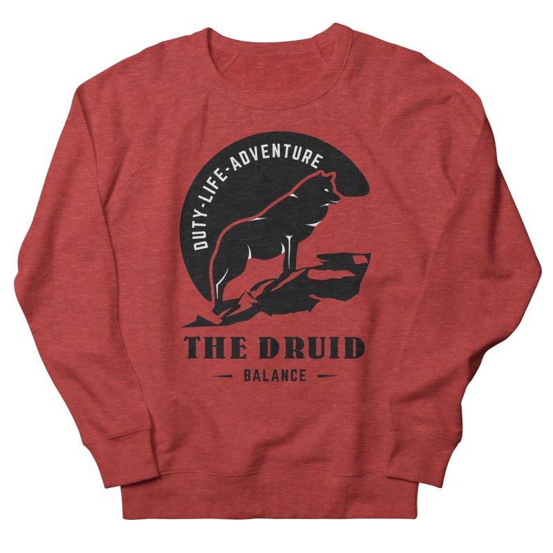 The Druid - Black Women's French Terry Sweatshirt by fantastic worlds pod's Artist Shop