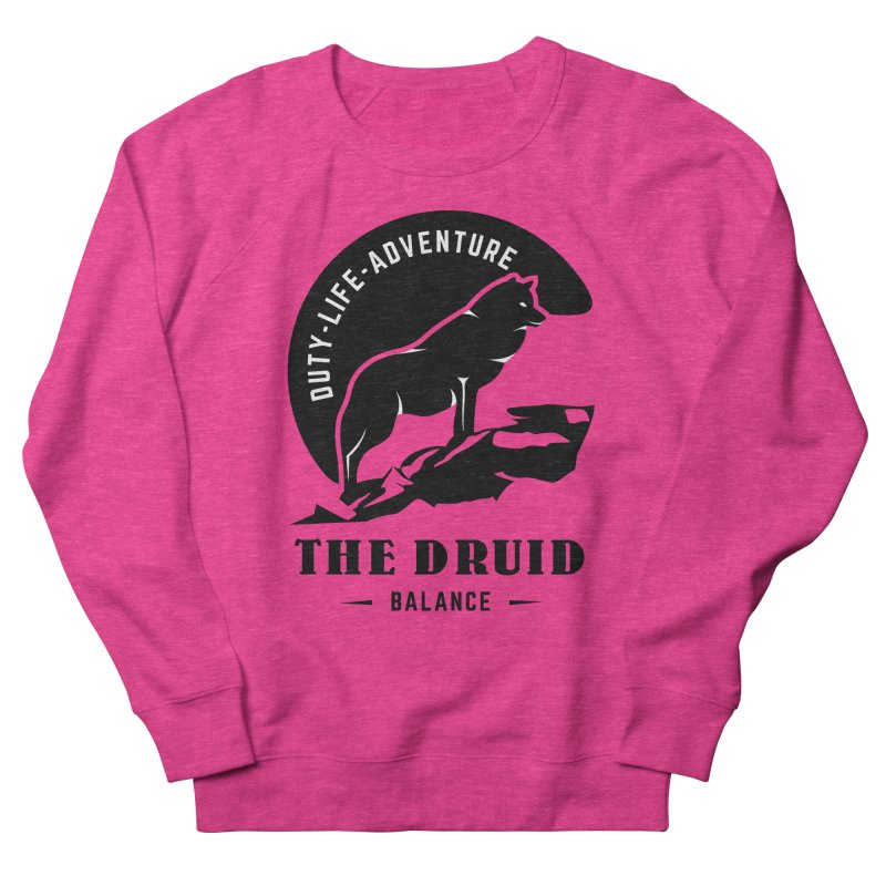 The Druid - Black Women's French Terry Sweatshirt by fantastic worlds pod's Artist Shop