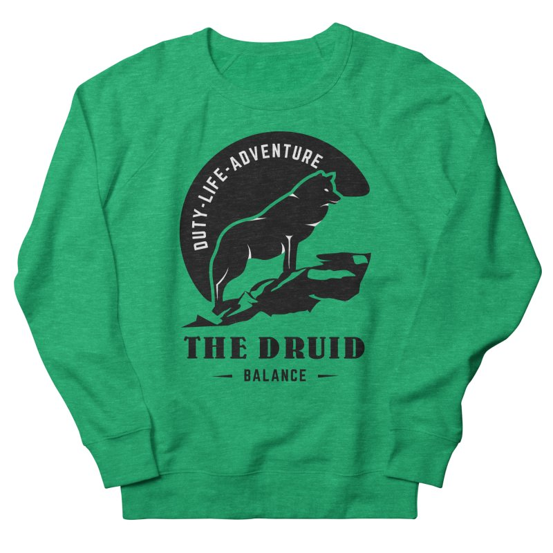 The Druid - Black Men's French Terry Sweatshirt by fantastic worlds pod's Artist Shop