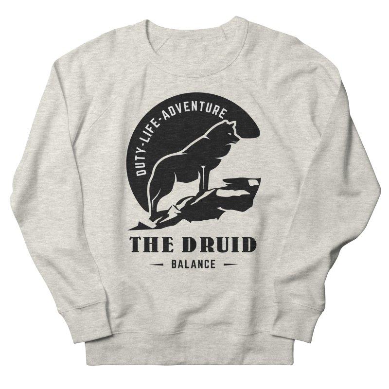 The Druid - Black Men's French Terry Sweatshirt by fantasticworldspod's Artist Shop