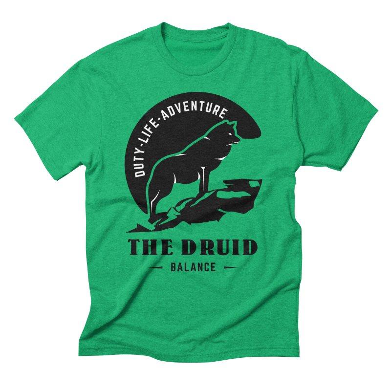 The Druid - Black Men's Triblend T-Shirt by fantastic worlds pod's Artist Shop