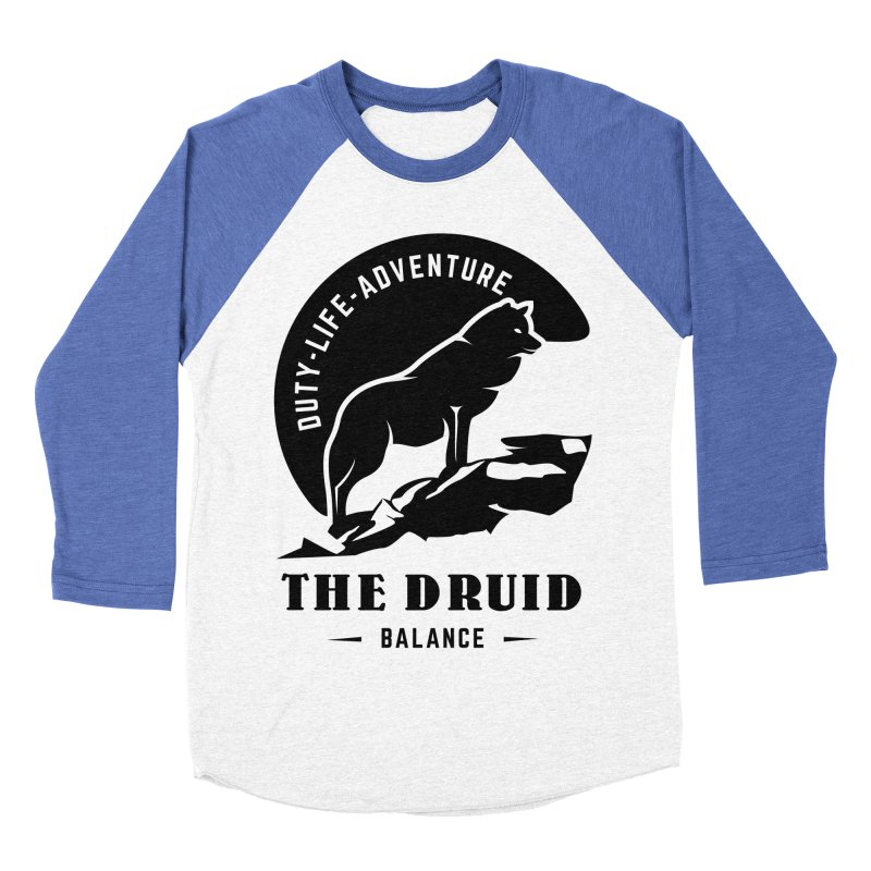 The Druid - Black Women's Baseball Triblend Longsleeve T-Shirt by fantasticworldspod's Artist Shop