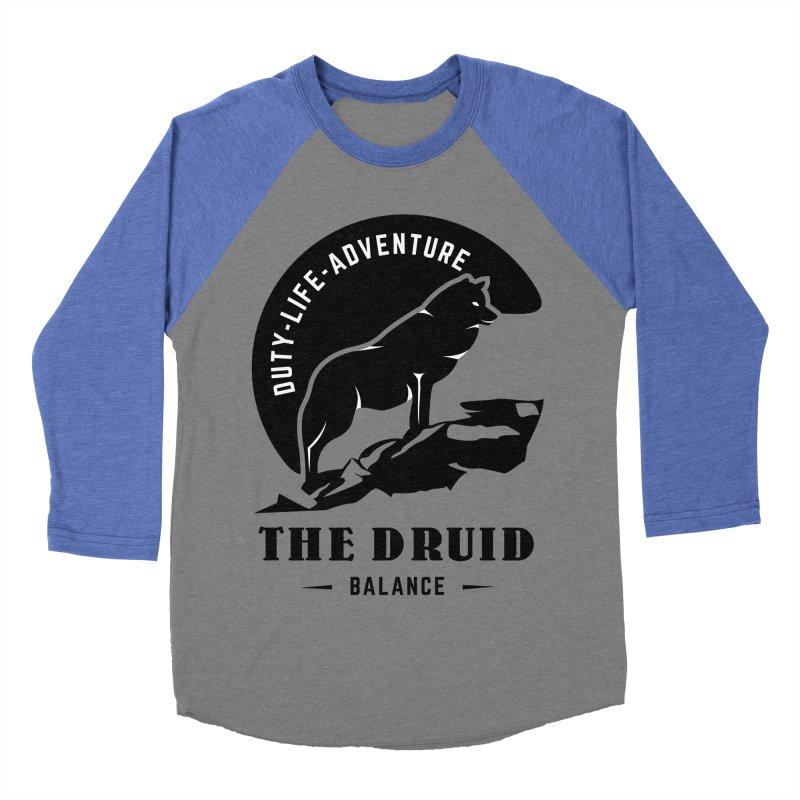 The Druid - Black Men's Baseball Triblend Longsleeve T-Shirt by fantastic worlds pod's Artist Shop