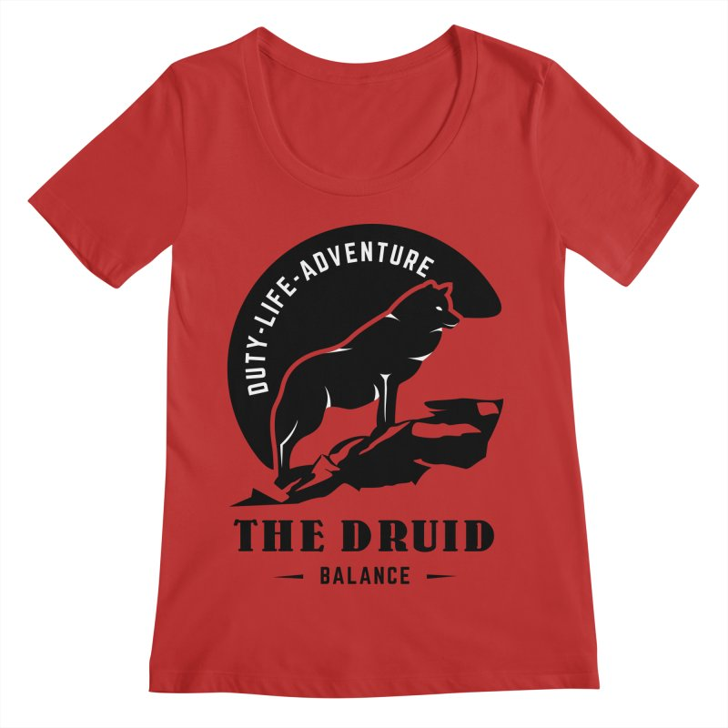 The Druid - Black Women's Regular Scoop Neck by Fantastic Worlds Podcast  Shop