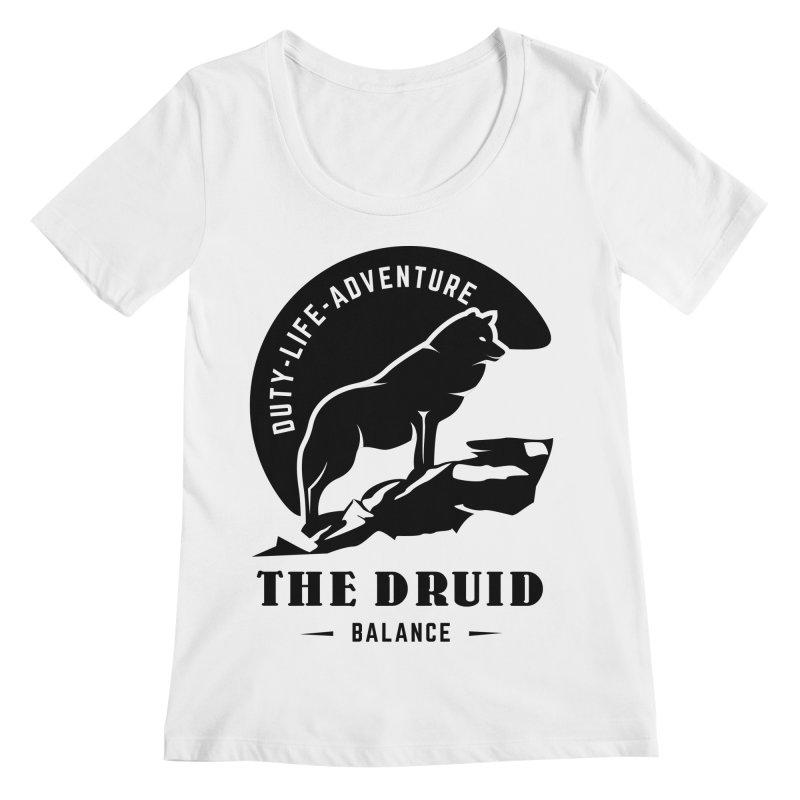 The Druid - Black Women's Regular Scoop Neck by fantasticworldspod's Artist Shop