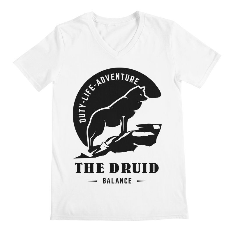 The Druid - Black Men's Regular V-Neck by fantasticworldspod's Artist Shop