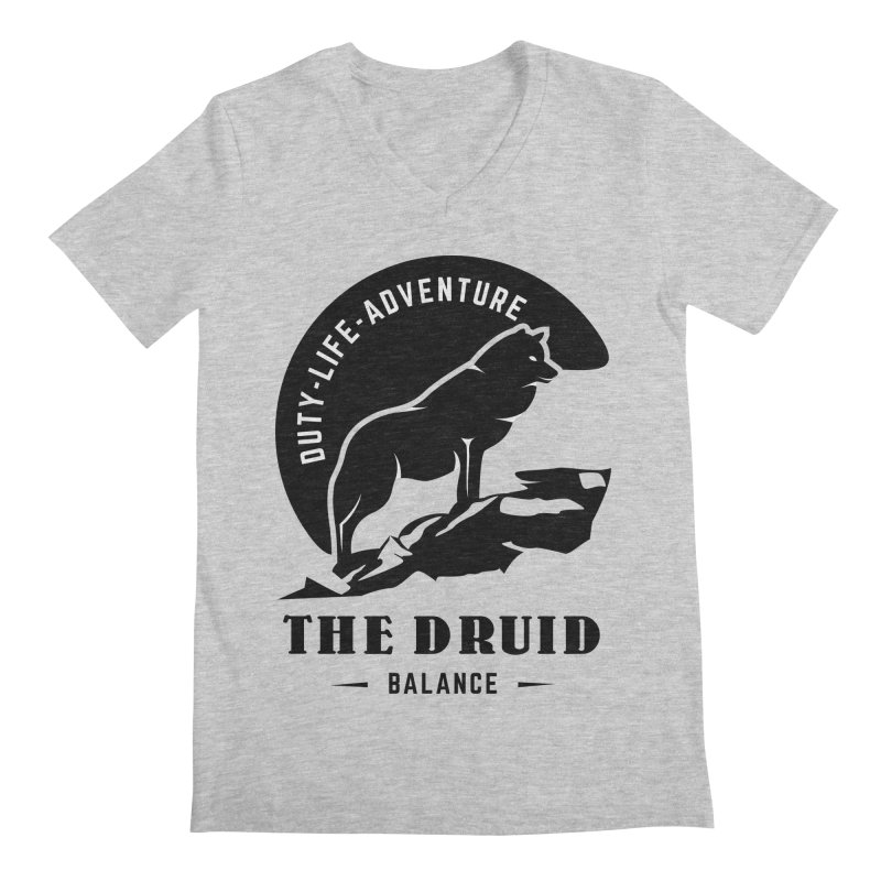 The Druid - Black Men's Regular V-Neck by fantastic worlds pod's Artist Shop