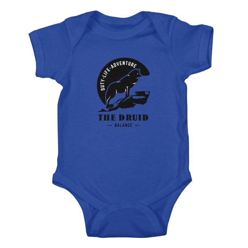 The Druid - Black Kids Baby Bodysuit by fantasticworldspod's Artist Shop