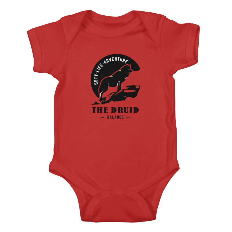 The Druid - Black Kids Baby Bodysuit by fantastic worlds pod's Artist Shop