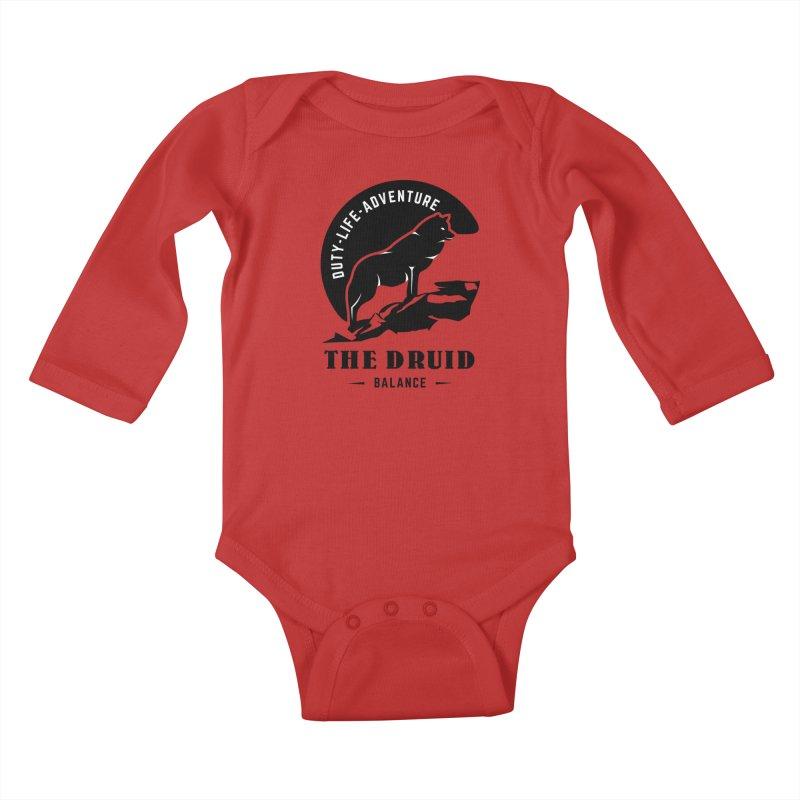 The Druid - Black Kids Baby Longsleeve Bodysuit by fantastic worlds pod's Artist Shop